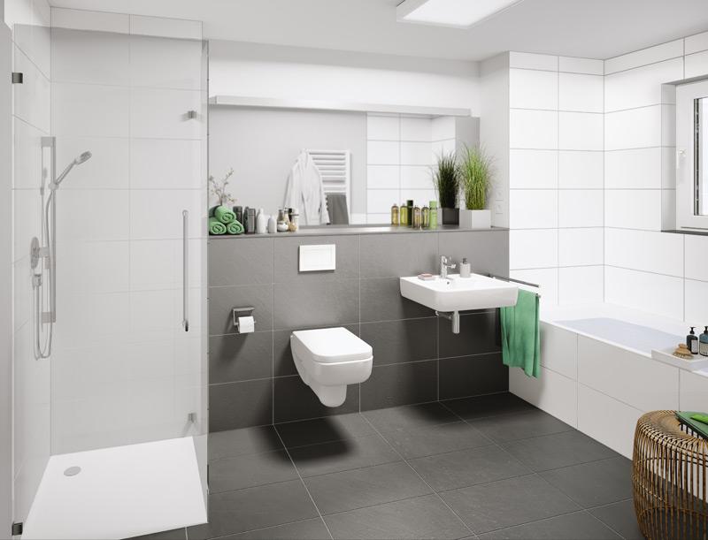 Klassisch-elegante Badezimmer